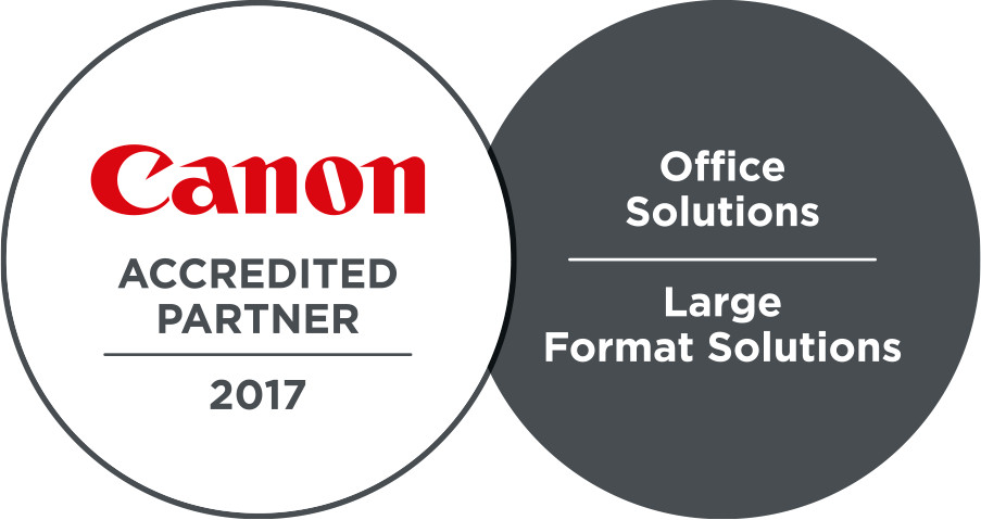 Canon Accredited partner 2017 - Office solutions - Large format solutions